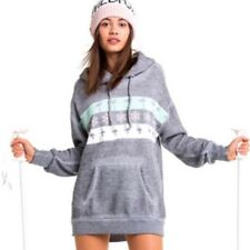 Wildfox On Holiday Relax Hoodie Grey Woman Size XS New $168