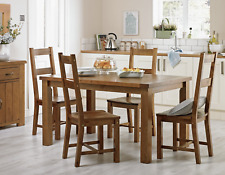 Collection Arizona Solid Pine Dining Table & 4 Chairs in Natural Grain RRP499.99