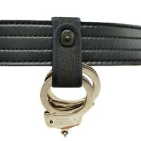 Perfect Fit Nylon Handcuff Strap Holder Black Safety Snap Police Security Guard