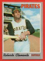 1970 Topps #350 Roberto Clemente EX+ WRINKLE Pittsburgh Pirates HOF FREE SHIP