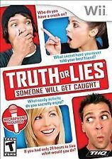 Truth or Lies WII NEW! WITH MICROPHONE! GET EXPOSED! FAMILY GAME PARTY NIGHT!