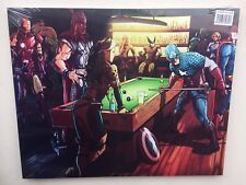 NEW AVENGERS MARVEL HERO SNOOKER SMALL CANVAS PRINT SEALED SHRINK WRAPPED