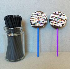 "4.5"" Plastic Black Lollipop Sticks, Black Sucker Sticks, Black Cake Pop Sticks"