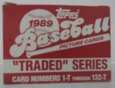 "Topps 1989 ""Traded"" Series - 132 Card Set - Cards 1-T to 132-T"