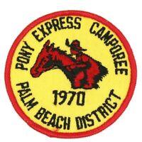 1970 Pony Express Camporee Palm Beach District Gulf Stream Council Patch Horse