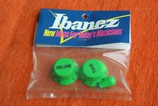 Boutons IBANEZ guitare Knobs JEM VAI GUITAR RG VERT GREEN OLD STOCK GENUINE