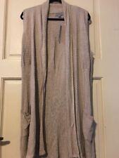 NEW Women Beige Tan Mocha Brown Long Cardigan Duster Coat Shrug $68 XL 1X