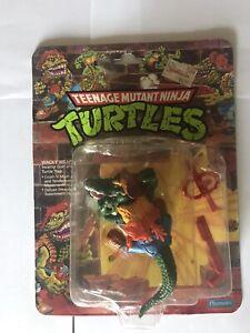 1989 Playmates Teenage Mutant Ninja Turtles Leatherhead Unpunched 19 Back
