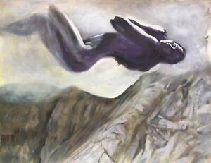 ORIGINAL Painting Nude Female Mountain Spirit Surrealism Living Room Art Natasha