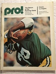1973 NEW YORK GIANTS vs PHILADELPHIA Eagles NORM SNEAD Brad Van Pelt Bob GRIM