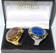 DOCTOR WHO : SILVER & GOLD COLOURED FINGER CLOCK SEAL OF RASSILON SET (TK)
