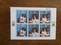 NEW ZEALAND HEALTH STAMPS 1985 PRINCESS DIANA 6 STAMP MINI SHEET