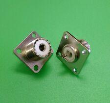 (10 PCS) UHF Female SO-239 RF 4-Hole Solder Panel Type connector - USA Seller