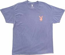 Men's Playboy Bunny Logo Purple Pink Vintage Magazine Retro T-Shirt Tee New