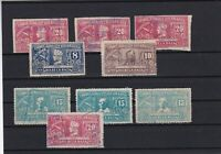 nicaragua 1937 airmail revenue stamps ref r11552