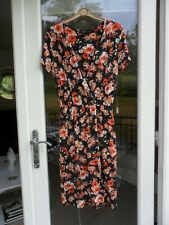 A Fabulous Navy & Orange Size 10 Ladies Dress by Therapy