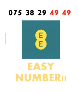 EE Network Trio Sim Card Easy Number Platinum Gold Vip Memorable 075 38 29 49 49