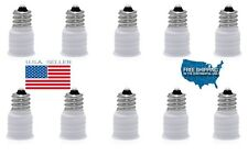 E12 to E14 Smaller Socket Base LED Bulb Lamp Light Adapter Converter Holder USA!