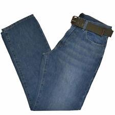 Calvin Klein джинсы расслабленный прямой бесплатный ремень Средний Темный Stonewash джинсовой ткани новый с Ярлыками
