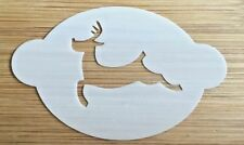 Face paint stencil reusable washable Xmas Reindeer 190 Mylar 2.5 in x 1.75