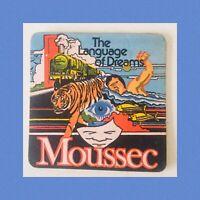 Vintage Beer Mat (Coaster) Moussec Sparkling British Wine