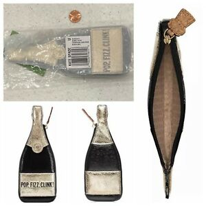 NWT & Sealed ~ Pop Fizz Clink 🍾 Bubble Over Champagne Bottle 🥂 Coin Purse