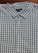 CLAIRBORNE MEN'S BUTTON DOWN SHORT SLEEVE SHIRT~ SIZE 5XL