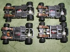 TYCO 440X2 NARROW INDY F-1 CORVETTE 4 CHASSIS LOT A BSRT