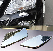 US STOCK x2 CHROME Headlight Washer Caps for Mercedes Benz W164 ML Class 08-11