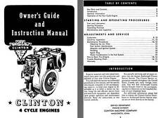 Clinton Machine Co - Clinton 4 Cycle Engines Owners Guide and Instruction Manual