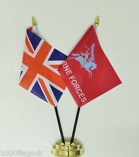 United Kingdom & British Army Airborne Forces Double Friendship Table Flag Set
