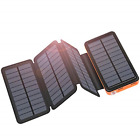 Solar Charger 25000mAh ADDTOP Portable Solar Power Bank with Type-C Input for