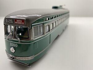 Corgi #55023 O Gauge Model of Brooklyn, NY PCC Street Car Trolley NIOB