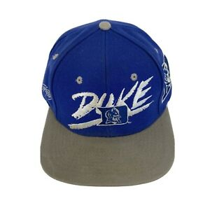 VTG Duke Blue Devils SnapBack Hat Signatures Sportwear 1984 Spellout