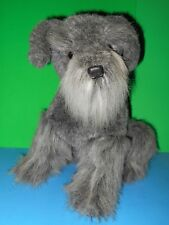 Beautiful Realistic Charcoal Scottish Terrier Stuffed Puppy Dog VTG Dakin 1988