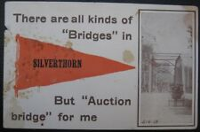 SILVERTHORN CO ? ~ 1919 Horse Buggy on Bridge ~