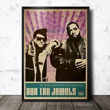 Run The Jewels Hip Hop Art Poster Rap Music MF Doom Mos Def J Dilla DJ Shadow