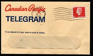 CANADIAN PACIFIC TELEGRAM WINDOW COVER - JULY 2, 1965