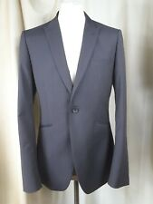 Topman Dot Pattern Grey Wool Mix Slim Fit One Button Suit C40 W36 L32