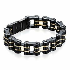 Mens Heavy Biker Wide Motorcycle Chain Stainless Steel Bracelet Wristband*16MM