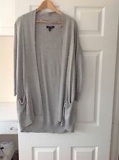 LADIES 'PRIMARK' GREY LONG CARDIGAN. SIZE 6. VERY GOOD CONDITION. POCKETS.