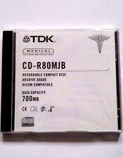 TDK Medical Recording Solutions Disc CD-R 80MJB Archive Grade 700MB Blank Disc