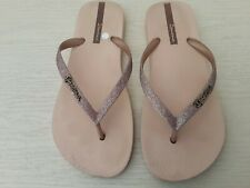 Ipanema flip flops. Size 5. Dusky pink glitter.