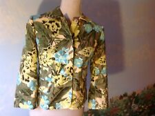 Ann Taylor Loft Floral 3/4 Long Sleeve Suit Blazer 100% Cotton Size 0