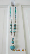 """Turquoise & Silver Necklace 12"""" long - PRICE REDICED!!!"""