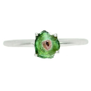 Watermelon Tourmaline 925 Sterling Silver Ring Jewelry s.7 BR79221