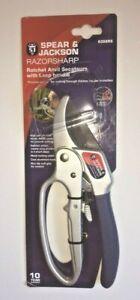 Spear & Jackson Razorsharp Ratchet Anvil Secateurs - 6358RS