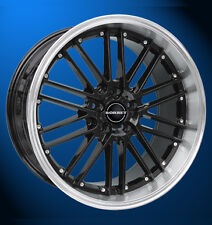 4x NEUE Borbet CW2 8.5 X 18 Zoll Alufelgen LK 5 X 110 ET 35 black rim polished