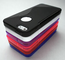 New Apple iPhone 5s Case Cover Skin TPU Rubber - 6 Colors T-Mobile AT&T Verizon