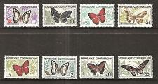 Central Africa # 4-11 Mnh Butterflies In Natural Colors
